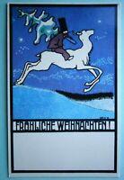 58. Reproduction of Winer Werk Staette Christmas Postcard, standard size.