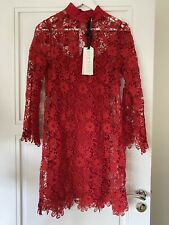 Brand New with Tags HALE BOB Red Lace Dress Size S / 8