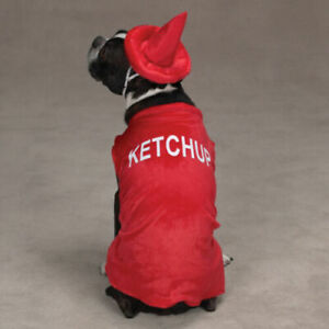Casual Canine Ketchup Bottle Dog Puppy Halloween Costume Size NEW SMALL RED