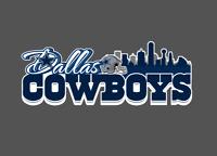 Dallas Cowboys Skyline Bumper Window Vinyl Decal 8x3