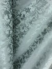 Jamestwown Blue Damask Brocade Upholstery Drapery Fabric (54 in.) Sold Bty