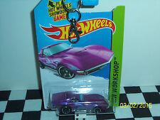 Hot Wheels: Workshop, 1969 Corvette Coupe, Purple w/ghost flames Key chain 1/64