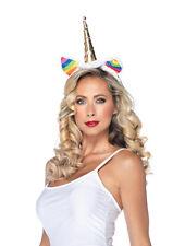 Womens Rainbow Unicorn Headband Halloween Accessory