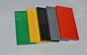 LEGO® Basic Bauplatte, Grundplatte 8x16 Noppen, 1 Stück zur Wahl versch. Farben
