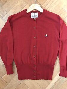 Vivienne Westwood Ladies Red Cardigan Size Uk M