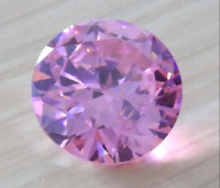 Pink Zircon 18mm 37.12Ct Round Cut AAAAA VVS Loose Gemstone