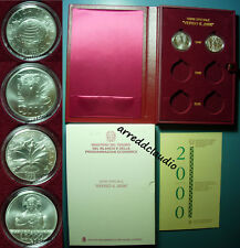 ITALIA VERSO IL 2000 DUEMILA 1998  DITTICO SERIE SPECIALE 2000 LIRE  ARGENTO FDC