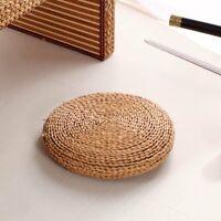 Straw Weave Handmade Pillow Floor Yoga Chair Seat Mat Tatami Cushion
