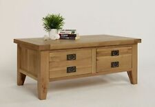 Less than 60cm High Oak Rectangle Coffee Tables with Drawers