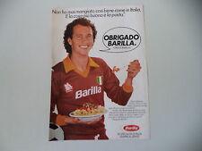 advertising Pubblicità 1983 PASTA BARILLA e PAULO ROBERTO FALCAO (AS ROMA CALCIO
