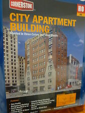 Walthers Cornerstone HO #933-3770  City Apartment Building Kit  - 8-1/8 x 5-3/16