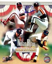 Nolan Ryan 4 Team Composite Autographed Photo Framed