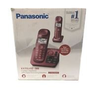 Panasonic KX-TGL432R DECT 6.0 Cordless Phone with Digital Answering System Red