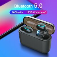 HBQ-Q32 Auto-pairing Wireless Bluetooth 5.0 Earbuds Headset Stereo Headphone