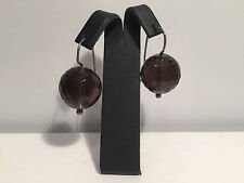 New - Pendientes EarRings - Brown Quartz Fume & Silver - Cuarzo Fume y Plata