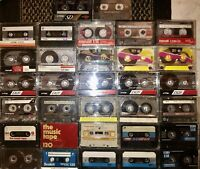 LOT OF 32 CASSETTE TAPES ALL 100 110 120 MIN SOLD AS BLANKS TDK MAXELL MEMOREX