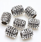 20/50/100Pcs Tibetan Silver Metal Loose Tube Spacer Beads Jewelry Making Charms