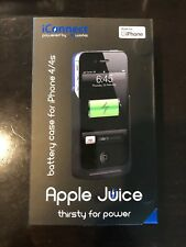 NEW LW-IC2I0N iConnect Apple Juice Battery Case for iPhone 4/4s Blue