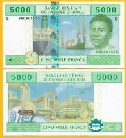 Central African States 5000 Francs Chad (C) p-609C 2002 UNC Banknote