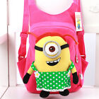 Cute Children Kids Boys Girls Despicable Me Minion Cartoon School Bag Backpack