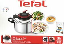 Tefal Clipso Plus Pressure Cooker | 10 Litre | with Steaming Basket | Made in Fr