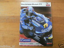 2003 DUTCH TT ASSEN PROGRAMME GRAND PRIX MOTO GP GAULOISES DUTCH TT 26/28-6-2003