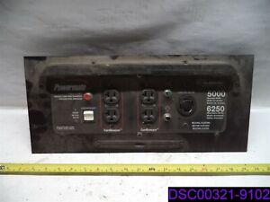 PANEL ONLY Subaru Powermate Generator Panel 5000 Running Watts, 6250 Max