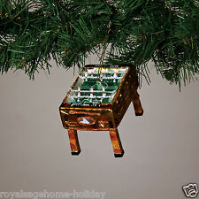 7028680 Foosball Gaming Table Glass Christmas Ornament Holiday Mancave Sports
