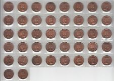 42 CANADIAN 1959 SMALL CENTS BU RED SHIPPED FLAT.