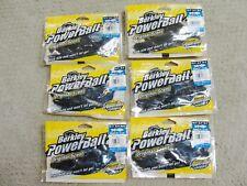"Lot of 6 New BERKLEY POWERBAIT 5"" BEAST Flipping Lure 7 ct pkg BLK/Blue Gr Pump"