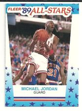 1989-90 Fleer MICHAEL JORDAN All Stars Sticker #3 Chicago Bulls. HOF. Near Mint+