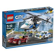 LEGO 60138 High Speed Chase Building Toy City Police Car Helicopter Kit Set NEW