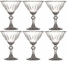 Set of 4 Vintage Style Martini Cocktail Glasses