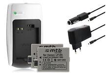 2x Batteries Chargeur pour Canon Lp-e5 - voir Liste de Compatibilit&eacute