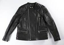 BELSTAFF Black Leather Jacket SIDNEY Motorcycle US 48 IT 58 NWT $1295 Cafe Racer