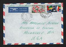 OPC 1963 Lambarene Gabon to Milwaukee Wis USA Air Letter