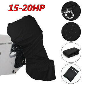 15hp - 20hp Full Outboard Boat Motor Engine Cover Dust Rain Protection 600D