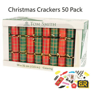 Tom Smith 13Inch Catering Christmas Crackers 32cm Christmas Decoration Set of 50