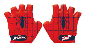 Marvel SPIDERMAN Kids Bike Cycle Padded Gloves Half Finger Bicycle Size S