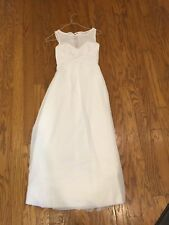 white formal Alford Angelo Dress Worn Once Sz 2