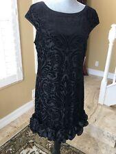 Jessica Simpson Velvet Flocked Party Dress Size 10. Retail $188