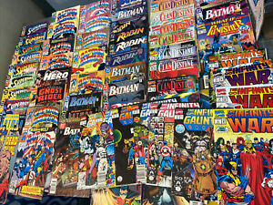62 COMIC BOOK LOT COLLECTION 80s / 90s Vintage Batman Robin Captain America More
