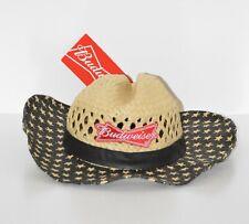 80935cbe3 New NWT Budweiser Bud Beer Men's Straw Cowboy Hat Patriotic Stars 4th of  July