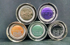 Lot of 5 Maybelline Color Tattoo Eyeshadows, Various Shades, As Pictured