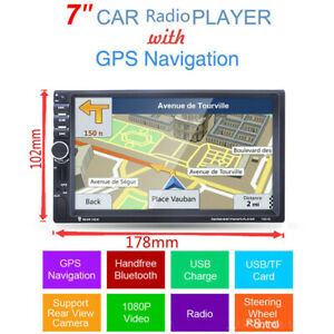 "7"" HD Touch Screen Universal Car Radio Video MP5 Player GPS Navigation Bluetooth"