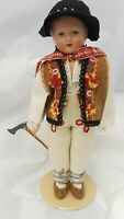 "Composition/ Cloth Hungary??  Boy Doll 14"" Tall"