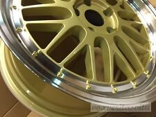 "19"" GOLD WHEELS RIMS LEMANS STYLE STAGGERED FITS BMW E46 E90 E92 E93 F30 F32 F33"