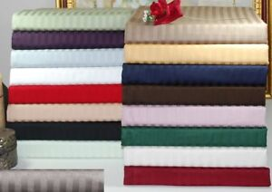 Bed Skirt / Bed Valance All Stripe Colors & Sizes 1000 TC Egyptian Cotton