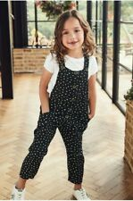 BNWT NEXT BLACK/WHITE SPOT DUNGAREES SIZE 12 YEARS