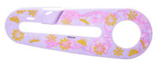 """KIDS BIKE CHAIN GUARD FOR 12"""" WHEEL BIKES - PINK AND GOLDEN FLOWERS new"""